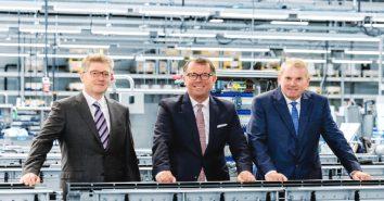 Die neue Führungsriege bei MULTIVAC (v.l.): Traumann, Spix, Boekstegers